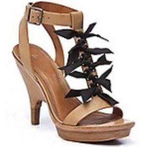 Leifsdottir Ingrid Nude Platform Bow Heels 7.5